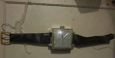 vintage Lord Spartus Wrist Watch shaped electric Wall clock