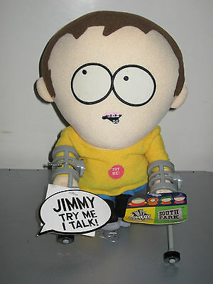 Rare South Park Talking Jimmy/crutches Plush Toy Doll Figure Nwt