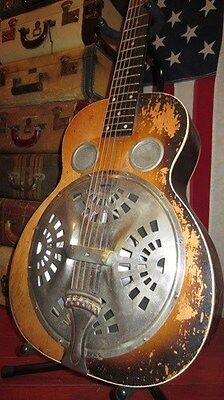Vintage 1937 Regal Made Dobro Model 37Resonator Acoustic Guitar W/ Original Case