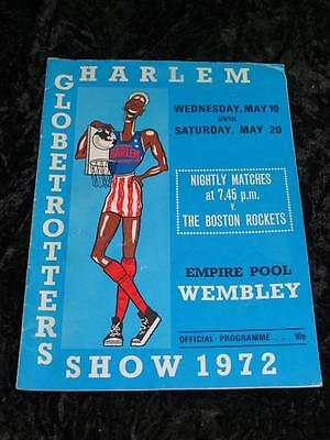 [VINTAGE BASKETBALL PROGRAMME Harlem Globetrotters v Boston Rockets WEMBLEY 1972