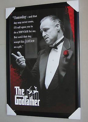 The Godfather Framed Poster SOMEDAY Black timber with glass ready to hang