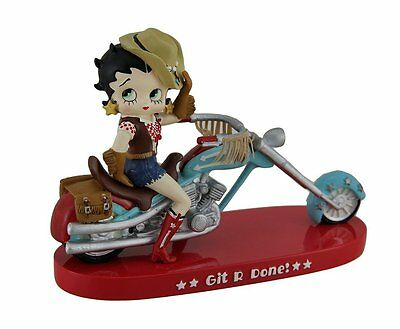 Betty Boop Git R Done Cowgirl Motorcycle Statue - Westland Giftware