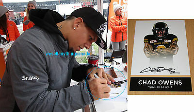 Chad Owens Autographed Limited Edition Hamilton Tiger-Cats Card with PROOF CFL