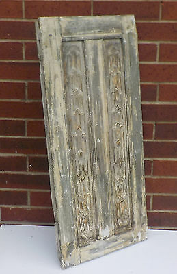 "SPANISH COLONIAL ANTIQUE WOODEN DOOR PANEL ENGRAVED OLD MEXICO 34"" x 15 1/2"" ""x"""