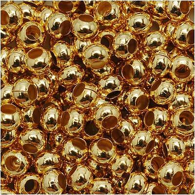 Genuine Metal Seed Beads 6/0 24Kt Gold Plated 30 Grams