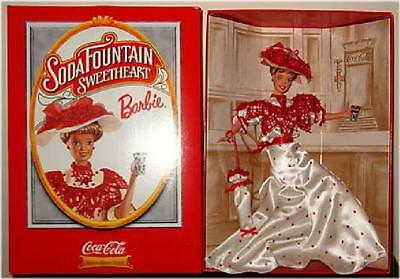 Coca-Cola ~ Soda Fountain Sweetheart Barbie ~ Collector's Doll ~ New ~ In Box