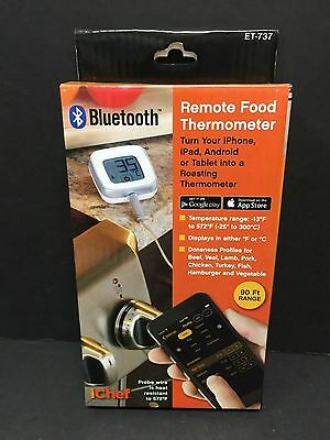 BRAND NEW iCHEF BLUETOOTH REMOTE FOOD THERMOMETER  ET-737