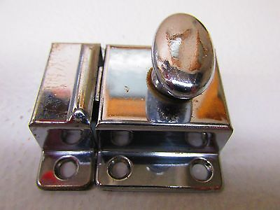 Vintage Chrome Hoosier Cupboard Cabinet Door Spring Load Latch #1