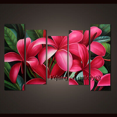 Large Modern Wall Art Hand Painted Abstract oil Painting Egg Flower Canvas Decor