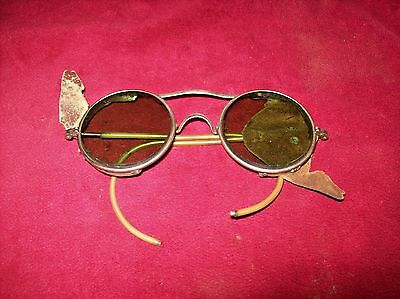 Vintage Steam Punk Style Green Lens Safety Glasses, A.O  Co. 72