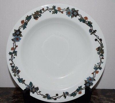 Shenango China 4 Flat Rim Soup Bowls for Nassau Hotel, New York 1912-1920 (G3)