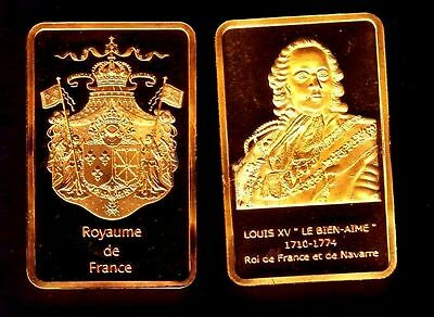 ●● Gold Plated Bar ● France ● Louis Xv King Of France ●●