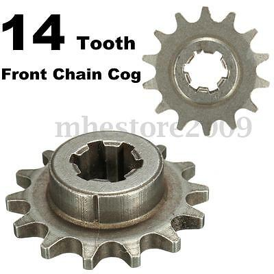 47cc 49cc Dirt Bike T8F 8mm 14 Tooth Front Pinion Sprocket Chain Cog Mini Moto