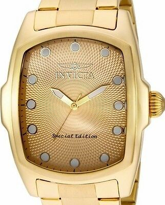 New Mens Invicta 15854 Lupah Big 47mm Limited Yellow Gold Tone Watch