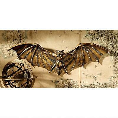 Steampunk Vampire Bat Wall Sculpture Mechanized Fantasy Halloween