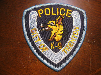 Trenton New Jersey K9 Police Patch (3 Inch)