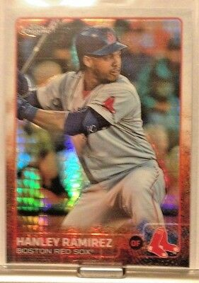 2015 Topps Chrome Prism Refractor Hanley Ramirez Red Sox     Wm7