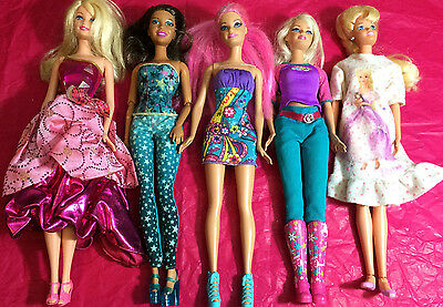 Mixed Lot of 5  Barbies: previously played with lot #C47