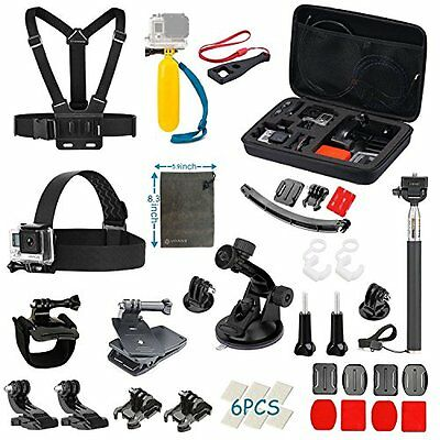 Vanwalk Accessories Kit for Gopro Hero 5 Session 4 3+ 3 2 1, AKASO EK7000 New