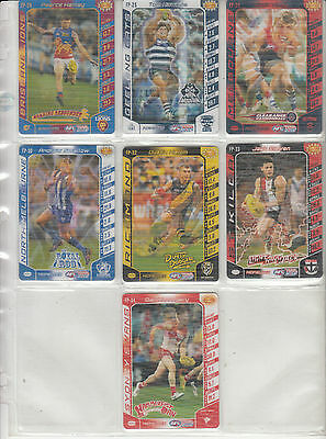Seven AFL Teamcoach 2016 Footy Powers Cards