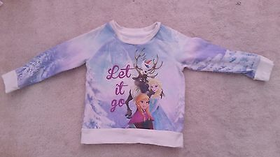 Baby Girls Young Dimension Disney Frozen Blue/White L/Sleeve Jumper (18-24 mths)