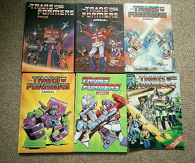 Transformers UK Annuals x 5: 1985-89 and collected comics - Man of Iron