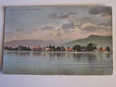 old Cairns Esplande North Qld postcard Strand Hotel in View