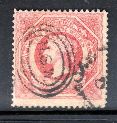 1860  Australia New South Wales 1/- Rose Victoria Used