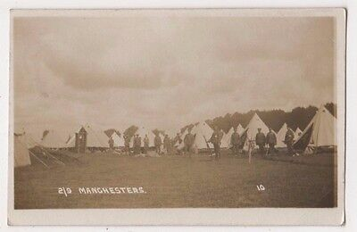 2/9 Manchesters Military Camp RP Postcard, B598
