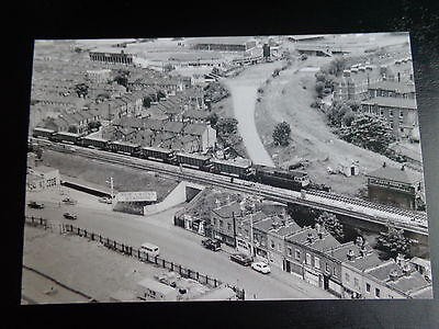 """MILLWALL  GROUND  THE DEN Viewed from Railway 1960s ?     Photo  6""""x4""""  REPRINT"""