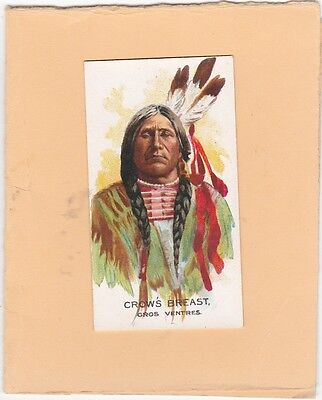 GANONG BROS (CANADA) SCARCE CARD FROM BIG CHIEF.No.39.CROWS BREAST. ISSUED 1925