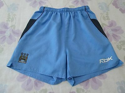 Boys Manchester City football shorts size JM/140 Reebok