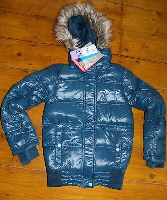 Girls Free Country Jacket Power Down filled S 7-8 Years Blue coat bnwt