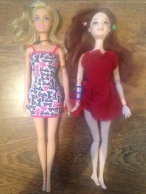 barbie doll blonde hair bundle dolls jointed brunette