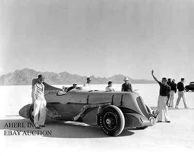 Duesenberg Mormon Meteor  Ab Jenkins speed record attempt 1936 photo phtoograph