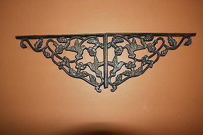 (12) LG ANTIQUE LOOK,shelf brackets,HUMMING BIRD,country decor,home, garden,B-40