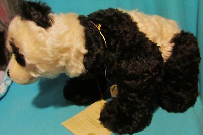 Beautiful Hermann Mohair Jointed Panda Teddy Bear Mint With Tags! Germany