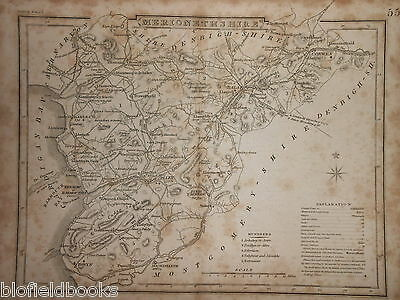 Original Antique Map of Merionethshire (North Wales)  c1850s - Antiquarian/Welsh