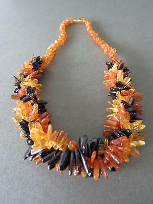 Vintage Natural Baltic Butterscotch Egg Yolk Honey Cherry Amber Bead Necklace