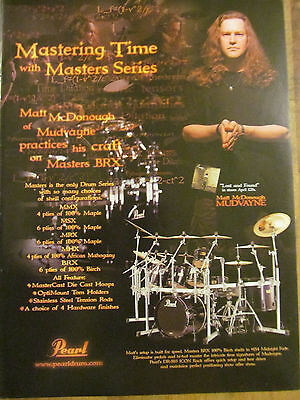 Mudvayne, Matt McDonough, Pearl Drums, Full Page Promotional Ad