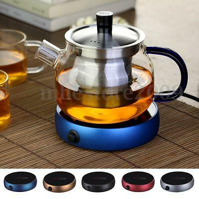 Portable Electric Desktop Coffee Tea Heater Cup Mug Pad Warmer Warming Tray 220V