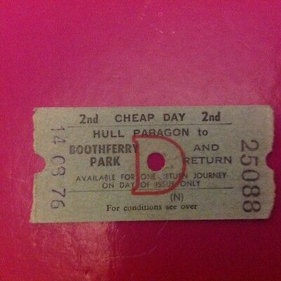 Hull City Paragon to Boothferry Park 1976 v Sheffield United