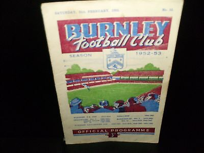 1952/1953  Burnley Reserves V.  Chesterfield    Central League