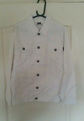 Girls white denim style jacket age 12 new with tags