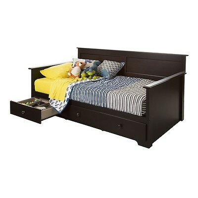 """South Shore Summer Breeze Twin Daybed with Storage (39"""") - Chocolate"""
