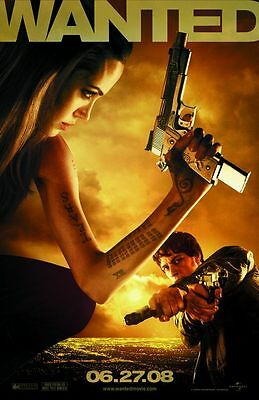 Wanted  - original DS movie poster - 27x40 D/S - Angelina Jolie Final
