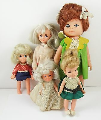 Collection of 5 Vintage 1960's Collectable Toy Dolls
