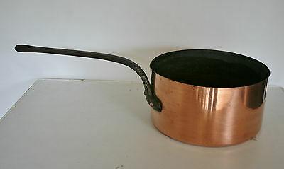 French Antique/Vintage Large  Heavy Copper  Pan  with Metal Lining  8000ml Appx