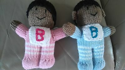 Brand New Hand Knitted Boy And Girl Baby Dolls.