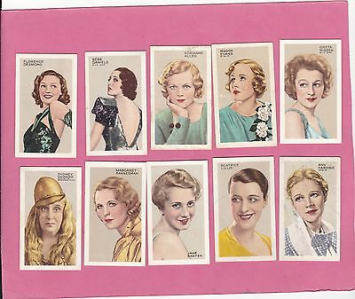 Gallaher Part Set 30/48.stars Of Screen & Stage. Cat£18.00. Issued 1935.